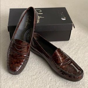 Cole Haan Air Erika Tortoise Patent Loafers
